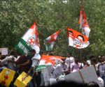 Congress youth activists during 'Bharat Bachao Jan Andolan' march