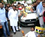 Youth Congress demonstration against hike in fuel prices