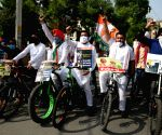 Youth Congress protests against fuel price hike