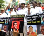 Congress demonstration against suicide of Dalit scholar