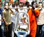 Congress demonstration against BS Yeddyurappa