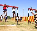 Youths participate during Indian Army's recruitment rally