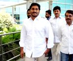 YS Jaganmohan Reddy at Delhi Airport