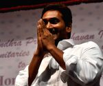 Jaganmohan Reddy receives warm welcome during a programme