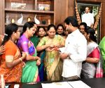 YSRCP MLAs celebrate the clearance of A.P. Disha Bill 2019 with Andhra CM