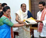 Jagan Mohan Reddy visits Durga Malleswara Swamy Varla Devasthanam