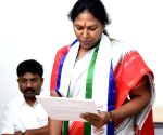 Free Photo: YSRCP pick Sunitha files second set for Andhra MLC nomination