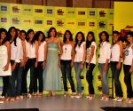Yukta Mookhey at Miss Teen Contest press meet.