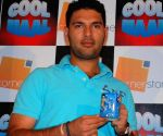 Yuvraj Singh's merchandise launch in Mumbai.