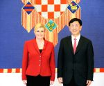 CROATIA ZAGREB CHINA VISIT POLITICS