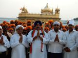 A 250 strong delegation of Congress party from Chattisgarh arrive at Golden Temple ahead of Lok Sabha elections to pray for formation of Congress led UPA government in Center for the third ...