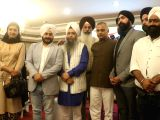 AAP MLAs Alka Lamba, Somnath Bharti and Jarnail Singh and others durring a press conference regarding controversial film Ik Onkar in New Delhi on Nov 9, 2017.