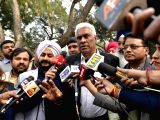AAP MLAs talk to the press outside the Delhi High Court on Jan 24, 2018. Eight of the 20 AAP MLAs on Tuesday moved the Delhi High Court challenging a notification disqualifying them on the ...