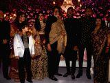 Actor Amitabh Bachchan attends the Krunal Pandya and Pankhuri Sharmas wedding reception in Mumbai on Dec 28, 2017.