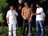 Amitabh Bachchan during the shooting for his upcoming film