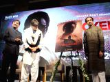 Actor Amitabh Bachchan with Shiv Sena chief Uddhav Thackeray and party leader Sanjay Raut at the teaser launch of upcoming biopic on late Shiv Sena founder-president Bal Thackeray titled ...