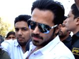 Emraan Hashmi arrives to shoot for a film