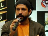 Farhan Akhtar talks to the press