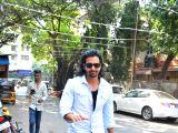 Harshavardhan Rane seen at Mumbai's Bandra