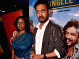 Actor Irrfan Khan and director Tanuja Chandra at the special screening of their upcoming film
