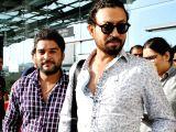 Irrfan Khan at Bhopal airport