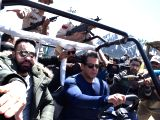 Salman Khan seen at Sonamarg for his upcoming flick Race 3