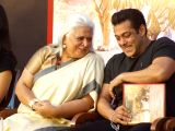 Actor Salman Khan with Bina Kak at the launch of her book Silent Sentinels of Ranthambhore in Mumbai on Dec 13, 2017.