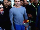 Sohail Khan at Jaipur airport