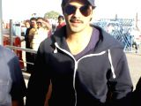 Varun Dhawan at Raja Bhoj Airport