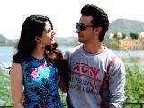 "Aayush Sharma, Warina Hussain during ""Loveratri"" promotions"