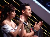 Actors Disha Patani and Tiger Shroff on the sets of DID Little Master in Mumbai on March 18, 2018.