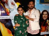 Actors Irrfan Khan and Parvathy at the screening of film