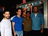 Kunal Khemu, Tusshar Kapoor, Johnny Lever and Rohit Shetty at Gaiety Cinema
