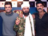 Actors Manish Paul, Sikandar Kher and Pradhuman Singh during a press conference regarding their upcoming film Tere Bin Laden: Dead or Alive in New Delhi, on Feb 18, 2016.