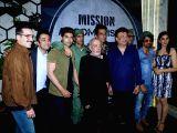 Actors Sonu Sood, Siddhanth Kapoor, Gurmeet Choudhary, Harshvardhan Rane, Jackie Shroff, Luv Sinha, Monica Gill and producer J.P. Dutta at the wrap up party of film