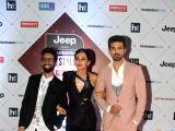 Actors Taapsee Pannu and Saqib Saleem at the red carpet of