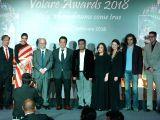 Actress Deepika Padukone, Oscar-winning composer A.R. Rahman, filmmaker Imtiaz Ali and producer Sajid Nadiadwala at the red carpet of Volare Awards 2018 in Mumbai on Feb 9, 2018.