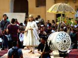 Actress Kangana Ranaut during shooting of her upcoming film Manikarnika: The Queen of Jhansi at Amber Fort in Jaipur.