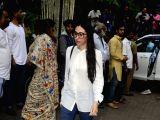 Actress Karisma Kapoor arrives to attend Late actor Shashi Kapoors condolence meeting in Mumbai on Dec 7, 2017.