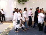 Actress Karisma Kapoor at celebration sports club to pay her last respects to the late actress Sridevi in Mumbai on Feb 28, 2018. After the flower-bedecked body was brought to the club ...