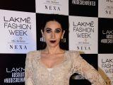 Actress Karisma Kapoor during the Lakme Fashion Week Summer/Resort 2018 in Mumbai on Feb 4, 2018.