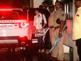 Actress Karisma Kapoor reaches the residence of actor Shashi Kapoor in Mumbai on Dec 5, 2017. Veteran actor Shashi Kapoor, who passed away at a city hospital here a day ago after a period of ...
