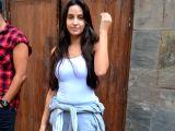 Nora Fatehi seen at Mumbai's Bandra