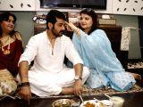 Bhai Dooj celebrations - Pallavi Chatterjee, Prosenjit Chatterjee