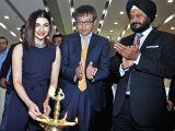 Actress Prachi Desai, Maruti Suzuki India Ltd. Executive Director (Marketing and Sales) Hashimoto, Executive Director (Marketing and Sales) RS Kalsi during the inauguration of Maruti Suzuki ...