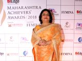 Actress Priyanka Chopra's mother Madhu Chopra at the Maharashtra Achievers Awards 2018 in Mumbai on Feb 26, 2018.