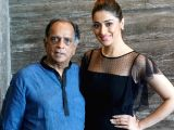 "Raai Laxmi and Pahlaj Nihalani during the interview for  film ""Julie 2"