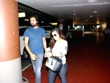 Riya Sen and Shivam Tewari spotted at airport