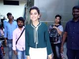 Actress Taapsee Pannu seen at Filmistan Studio in Mumbai on March 20, 2018.