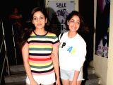 Yami Gautam and Surilie Gautam seen at a cinema theatre